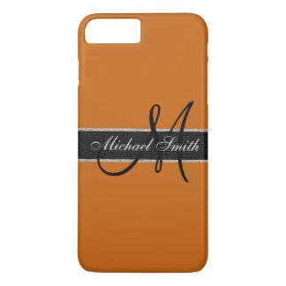 Fundo da laranja da liga do monograma capa iPhone 7 plus