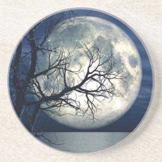 fundo da paisagem 3D com a lua sobre o mar Porta Copos De Arenito