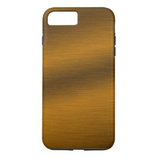 Fundo de bronze escovado do falso capa iPhone 8 plus/7 plus