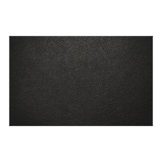Fundo de couro preto da textura impressão de canvas envolvidas