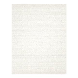 Fundo de linho do algodão flyer 21.59 x 27.94cm