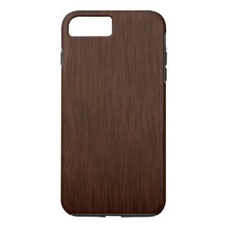 Fundo de madeira áspero escuro da grão capa iPhone 7 plus