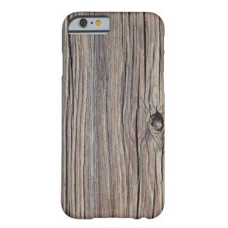 Fundo de madeira resistido - personalizado capa iPhone 6 barely there