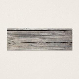 Fundo de madeira resistido vintage - o conselho cartão de visitas mini