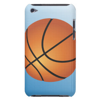 Fundo do azul do ícone do basquetebol capa para iPod touch