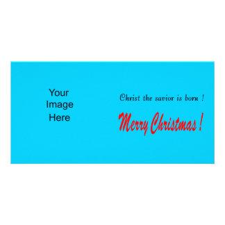 Fundo do azul dos cartões de foto de Natal Cartão Com Foto