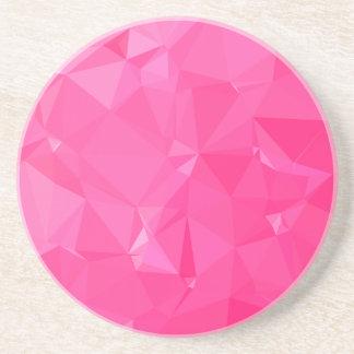 Fundo do polígono do abstrato persa do rosa porta-copos