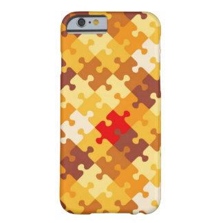 Fundo do quebra-cabeça das cores do outono capa barely there para iPhone 6