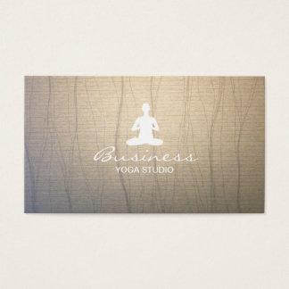 Fundo elegante do zen da meditação do instrutor da cartão de visitas