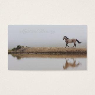 Fundo feito sob encomenda da imagem do cavalo para cartão de visitas