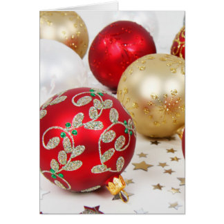 Fundo festivo dos enfeites de natal do feriado cartão comemorativo