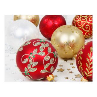 Fundo festivo dos enfeites de natal do feriado cartoes postais