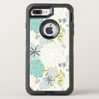 Fundo floral capa para iPhone 7 plus OtterBox defender