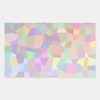 Fundo multicolorido do mosaico adesivos retangular