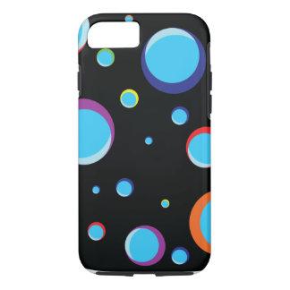 Fundo preto com bolhas coloridas capa iPhone 8/7