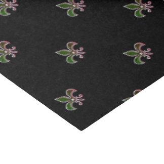 Fundo preto com flor de lis papel de seda