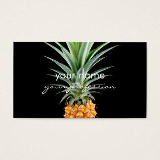 fundo preto minimalista elegante do abacaxi | cartão de visitas