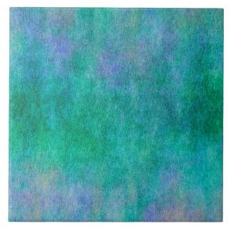 Fundo roxo azul verde da aguarela azulejo quadrado grande