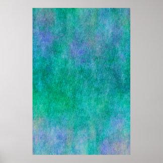 Fundo roxo azul verde da aguarela pôster