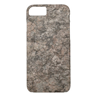 Fundo seco rachado da textura do rés-do-chão do capa iPhone 8/7