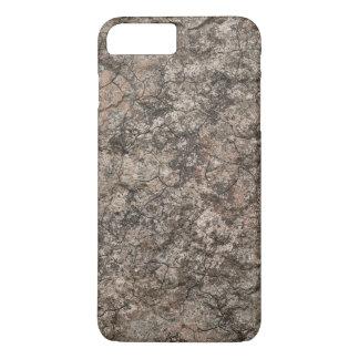 Fundo seco rachado da textura do rés-do-chão do capa iPhone 8 plus/7 plus
