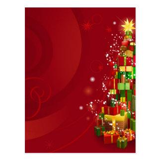 Fundo vermelho do Natal Cartões Postais