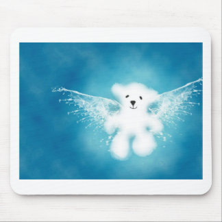 Funny bear mouse pad