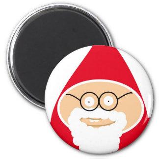 Funny Cute Papai Noel Ímã Redondo 5.08cm