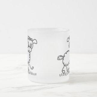 Funny Little Sheep - taça de Mattglas Caneca De Café Vidro Jateado