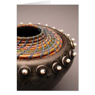 Fusão cerâmica 1 do Basketry Cartão