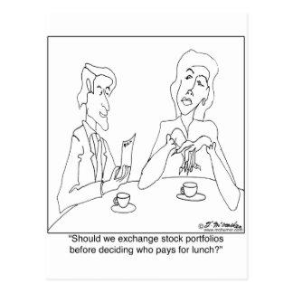 Fusão ou casamento cartão postal