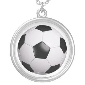 futebol colar banhado a prata