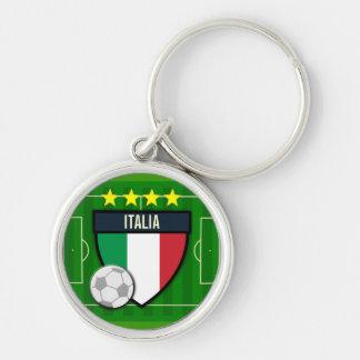 Futebol de Italia Italia Chaveiro Redondo Na Cor Prata