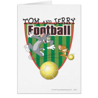 Futebol de Tom e de Jerry (futebol) 6 Cartão Comemorativo