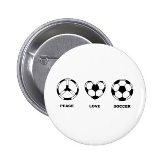 Futebol do amor da paz bóton redondo 5.08cm