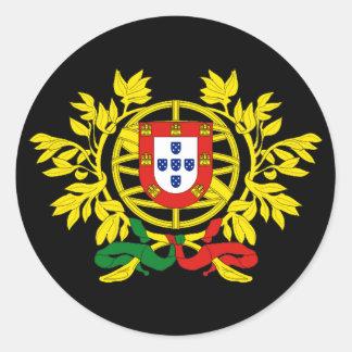 Futebol do futebol de Brasão de armas de Portugal Adesivos Redondos