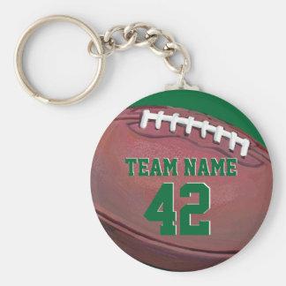 Futebol do nome e do número do jogador chaveiro