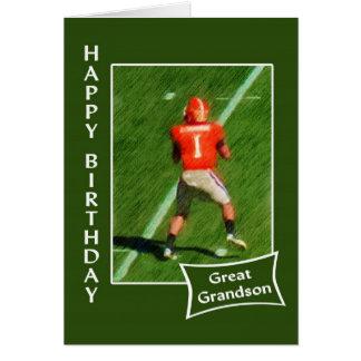 Futebol - excelente do feliz aniversario - neto cartão comemorativo