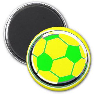Futebol Ímã Redondo 5.08cm
