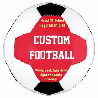 Futebol impresso costume a personalizar