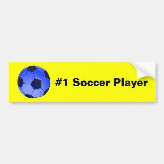 Futebol ou futebol de associação americano adesivo para carro