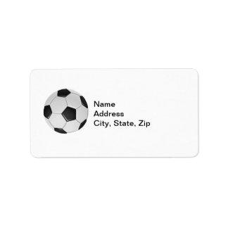 Futebol ou futebol de associação americano etiqueta de endereço