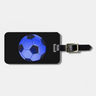 Futebol ou futebol de associação americano etiquetas de bagagens