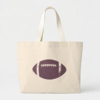 Futebol roxo e amarelo bolsa de lona