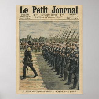 Fuzileiros navais na parada na revisão do 14a poster