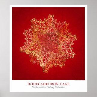 Gaiola de Dodecahedron Pôster