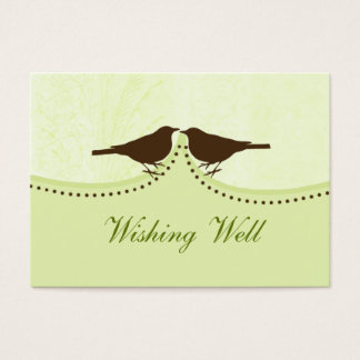 gaiola de pássaro verde, pássaros do amor que cartão de visitas