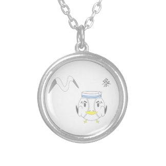 gaivota colar banhado a prata