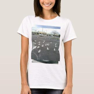 Gaivotas onde está a praia? t-shirt