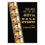 Gala da foto do aniversário de 40 anos da celebrid convite personalizado